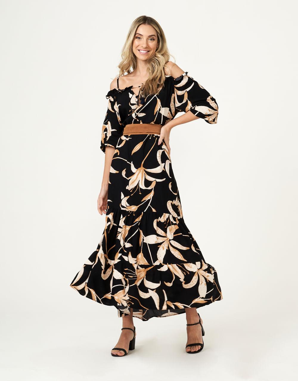 Vestido Lizzi Tassel Longo